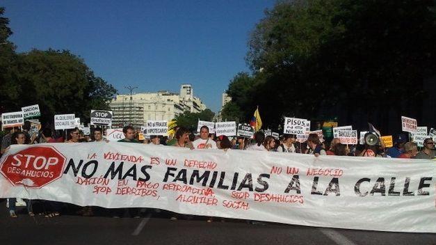 manifestación de afectados por los desahucios